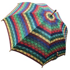 Missoni Vintage Large Wood Handled Umbrella