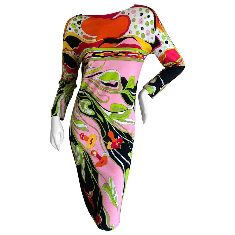 Emilio Pucci Rare Vintage 1960's Cashmere Knit Dress for Lord & Taylor