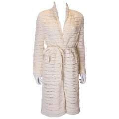 Vintage Knitted Cream Coat