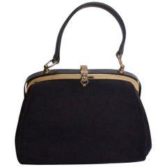 Vintage Blue Suede Bag, Lederer for Russell and Bromley