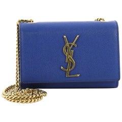 Saint Laurent Classic Monogram Crossbody Bag Grainy Leather Small