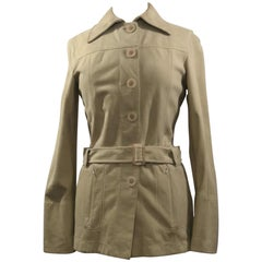 Faconnable Goatskin Fall or Spring Jacket with Belt