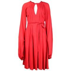Ossie Clark Vintage '60s Red Crepe Wrap Dress Sz 14