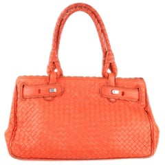 Bottega Veneta Coral Intrecciato Woven Leather Bag Scalloped Trim
