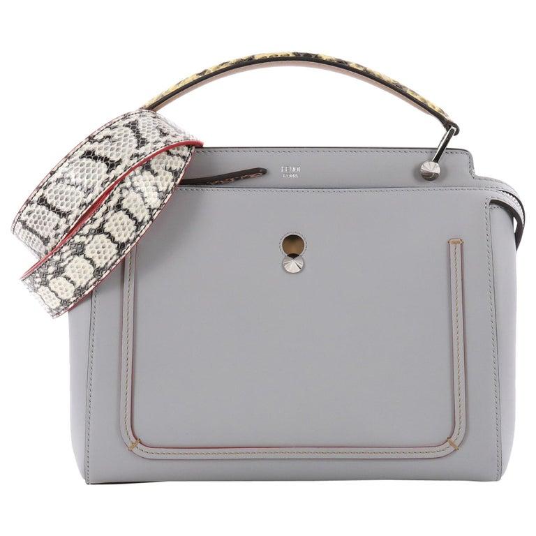 Fendi DotCom Convertible Satchel Leather with Elaphe Medium