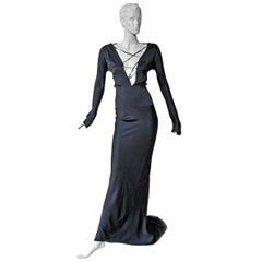 Gucci by Tom Ford 2002 Helen Hunt Dress Gown Worn on Red Carpet  New!