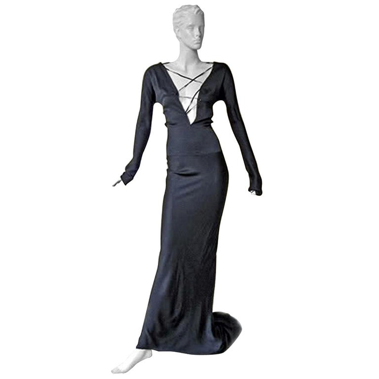 Gucci by Tom Ford 2002 Helen Hunt Dress Gown Worn on Red Carpet  New! For Sale