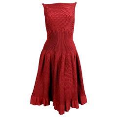 new AZZEDINE ALAIA bordeaux knit dress