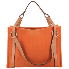 Hermes Cabalicol Tote Toile with Leather PM