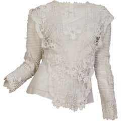Edwardian Hand made Irish Crochet Lace & Net Blouse