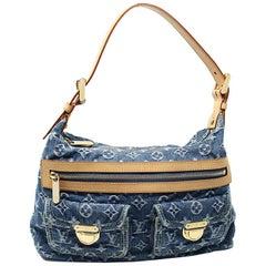 Louis Vuitton Denim Baggy PM Handbag Shoulder Bag with Dust Bag & Receipt