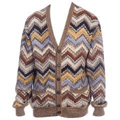 Mens Missoni Soft Knit Cardigan Sweater