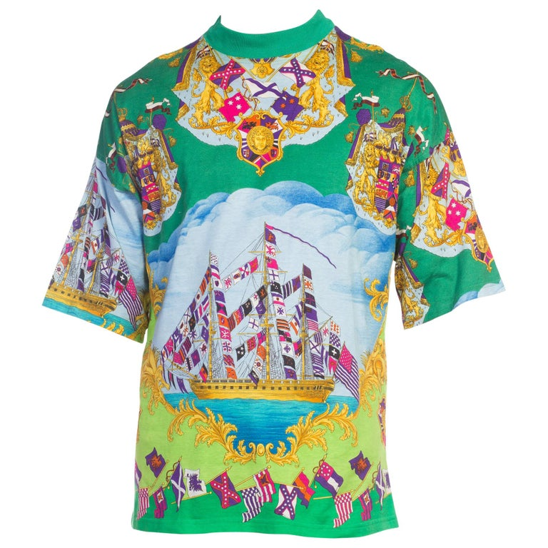 22893d260 HomeFashionClothingShirts. 1990s Gianni Versace Miami Collection Printed T- Shirt For Sale
