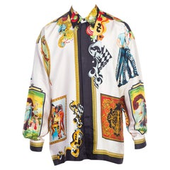 1990s Gianni Versace Super Model Silk Shirt