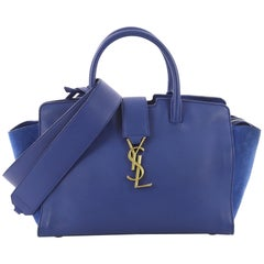 Saint Laurent Monogram Cabas Downtown Leather with Suede Baby