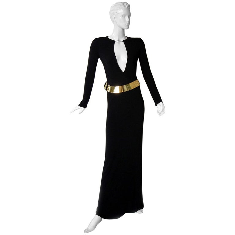 Gucci by Tom Ford Iconic Halston Inspired 1996 Gown in Tom Ford Book Dress   For Sale