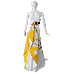 Gucci Runway Exotic Colorful Origami Gown