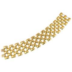 Mid-Century Kreisler Geometric Open-Link Vermeil Bracelet 1940s