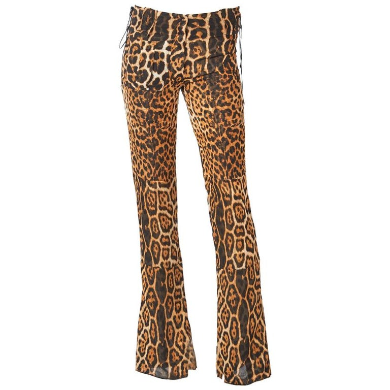 Tom Ford YSL Leopard Pattern Pants For Sale
