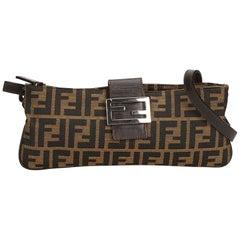 Fendi Brown x Dark Brown x Black Zucca Jacquard Crossbody Bag