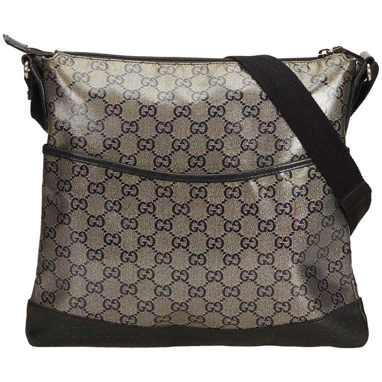 4e832c10c7cc Gucci Gray Guccissima Canvas Crossbody Bag at 1stdibs