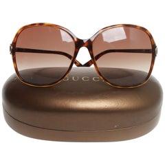 Gucci brown tortoiseshell sunglasses
