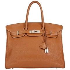 2008 Gold Clemence Leather Birkin 35cm