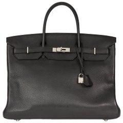 2011 Hermes Black Clemence Leather Birkin 40cm
