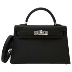 Hermès Kelly II Mini Veau Epsom Black PHW