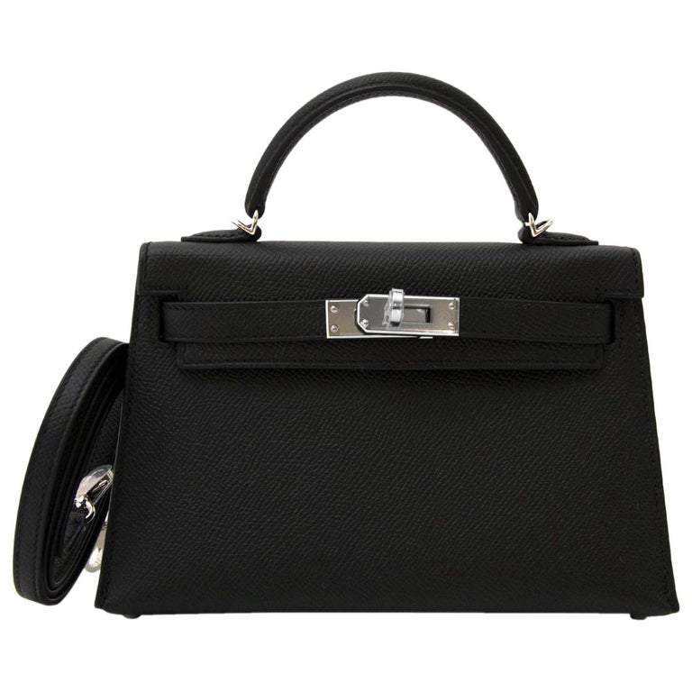 c8ac13593eb5 Hermès Kelly II Mini Veau Epsom Black PHW at 1stdibs