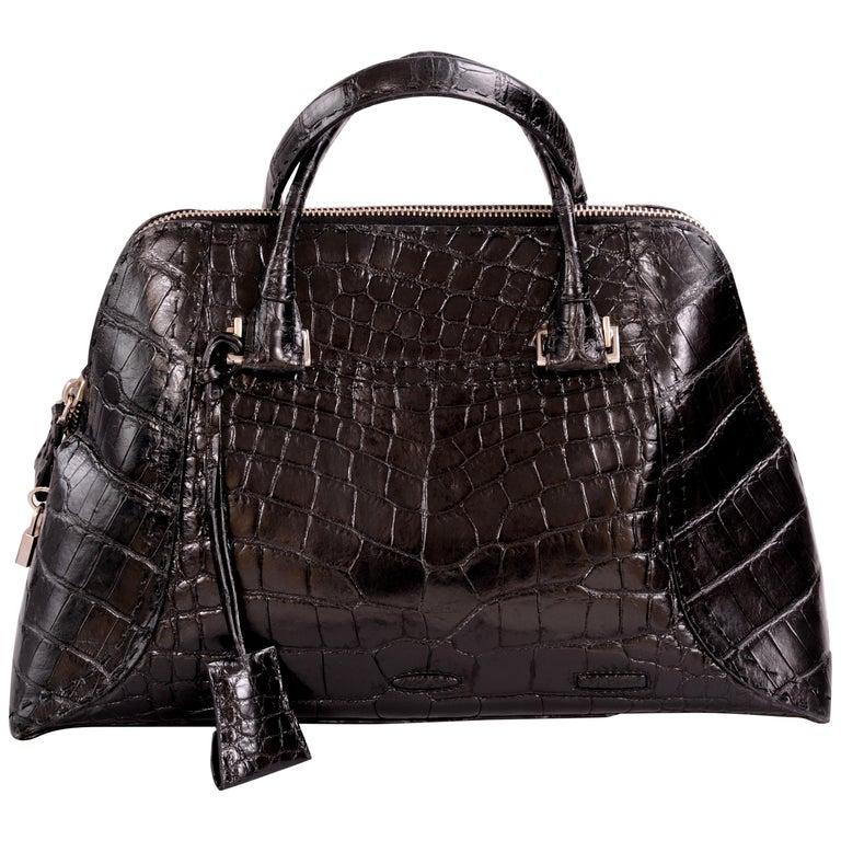 VBH Black Alligator Limited Edition Avenue Bag