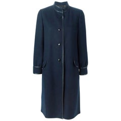 Louis Feraud Navy Wool Coat