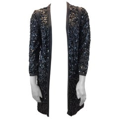 Rachel Zoe Grey Beaded Cardigan