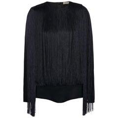 Nina Ricci Fringe Stretch-Jersey Bodysuit