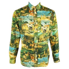 GITMAN VINTAGE Size L Multi-Color Print Cotton Long Sleeve Shirt