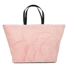 CHANEL Beach Bag in Pink terry Cloth