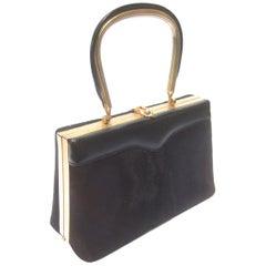 Diminutive Chocolate Brown Pony Fur Handbag circa 1970