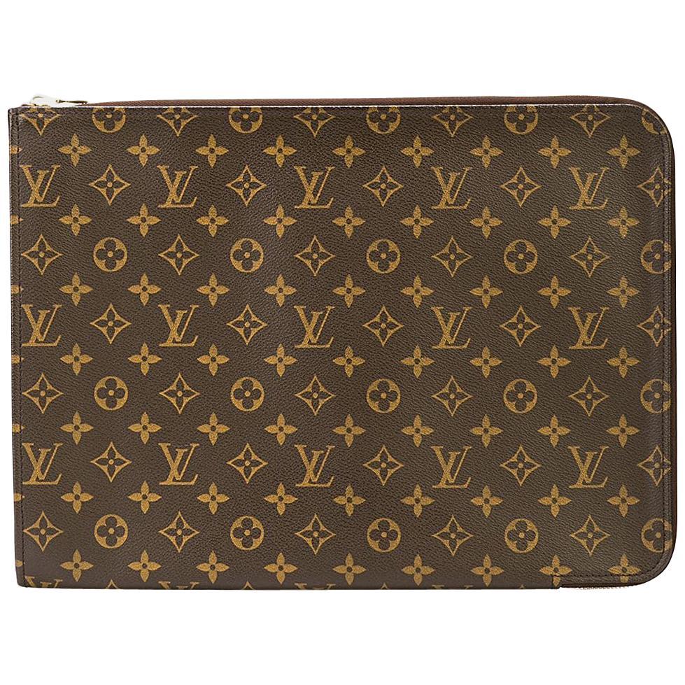 Louis Vuitton Monogram Men's Women's Carryall Laptop Travel Briefcase Clutch Bag