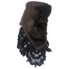 Comme des garçons Tricot Faux Fur and Wool Crochet Hat