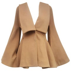 Alexander McQueen Camel Hair Tailored Jacket