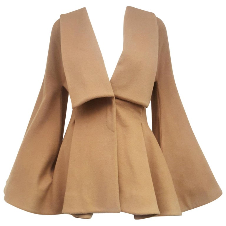 Alexander McQueen Camel Hair Tailored Jacket For Sale