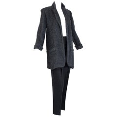 Donna Karan Black Label Cashmere and Alpaca Pant Suit, 1990s