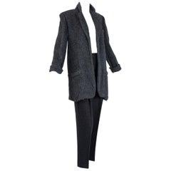 Donna Karan Black Label Cashmere and Alpaca Pant Suit, 1990s