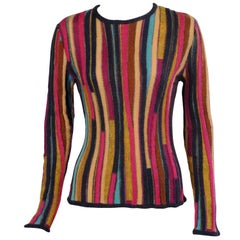 Missoni Colorful Striped Pullover Sweater Mohair and Wool