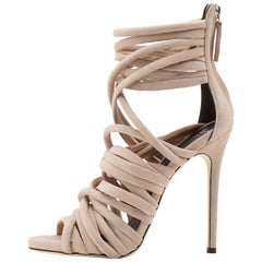 Giuseppe Zanotti NEW Suede Gladiator Strappy Sandals Heels in Box