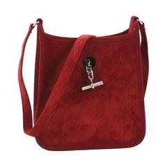 Hermes Vespa Handbag Suede TPM