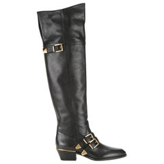 Chloé Susanna Leather Over-The-Knee Boots