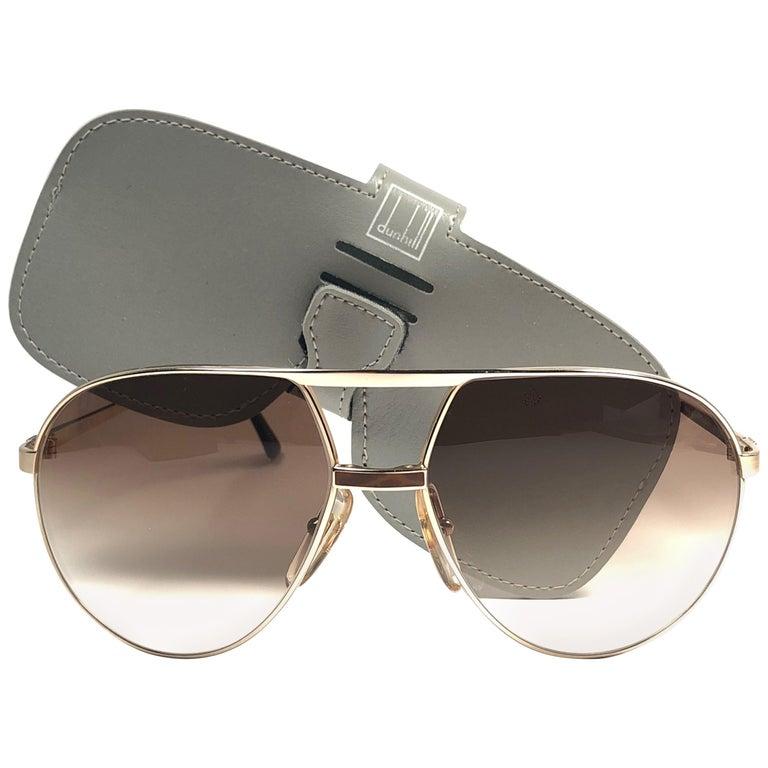 beca9a7611fb5 New Vintage Dunhill 6042 Laque Details Frame Aviator Sunglasses France For  Sale