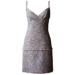 Chanel Tweed Fringe Mini Dress