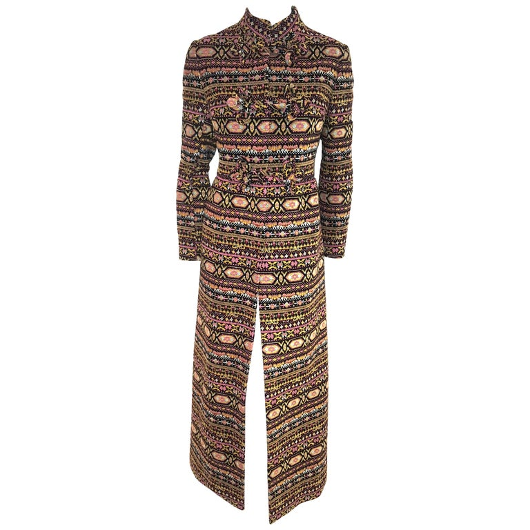Valentino Tapestry Pattern 2012/13 Runway Collection Long Coat For Sale